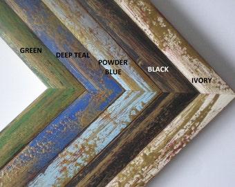 """Picture frame 10x10"""" photo frame art frame 25x25cm wedding frame wood frame rustic frame solidwoodshop"""