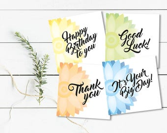 Assorted Geometric Floral Greetings Card Pack