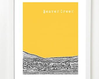 Beaver Creek Colorado Art Poster  - Beaver Creek City Skyline Print - Colorado Gifts