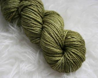 WORSTED - Moss - Hand Dyed - Superwash Merino Wool Yarn