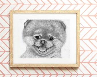 Pomeranian Print, Pomeranian Spitz Wall Art, Instant Download Printable Art, Digital Download Prints, Baby Shower Gift, Dog Printable Poster