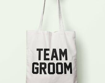 Team Groom Tote Bag Long Handles TB1314