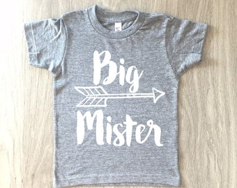 Big Brother tshirt - baby boy big mister shirt - toddler t-shirt - summer tee