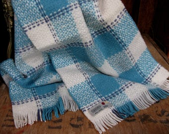 Sammy Scarf, Wool Scarf, Checked Scarf, Vintage Scarf, Pure Wool Scarf, Plaid Scarf, Check Scarf, Mens Scarf, 1960s Scarf, Made In England