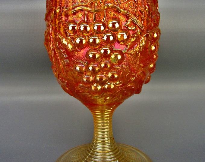 Imperial Carnival Glass - IMPERIAL GRAPE Marigold Water Goblet