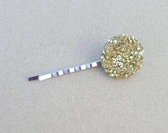 Gold gemstone Hair Pins (set of 2), hair pins, flower pins, gemstone hair pin,girl hair, hair pin, bobby pin