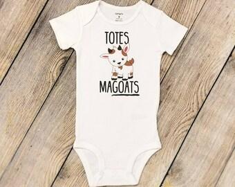 Totes MaGOATS Onesie | Funny Baby Onesie | Baby Shower Gift | Baby Bodysuit | Funny Baby Bodysuit | Baby Goat Onesie | New Baby Gift