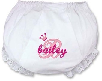 Personalized Baby Bloomers Diaper Cover Monogrammed Embroidered