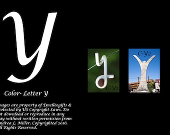 "Alphabet Letter {Y} Art Photography~ 4x6 ""Color"" Digital Print"