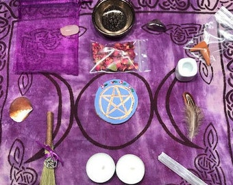Small Wiccan Travel Altar