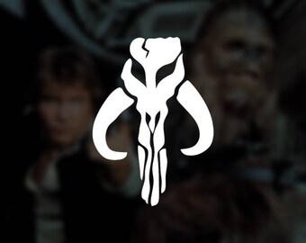 Star Wars - Boba Fett Mythosaur Insignia - Bounty Hunter Decal Vinyl