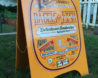 "2 SIDED 24"" x 34"" A-Frame Hand Painted Outdoor A Frame Sign"