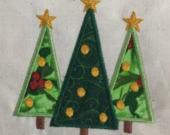 Christmas Trees Applique