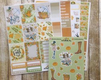 FALL STICKERS, Fall Sticker Kit, Hello Autumn Sticker Kit, Autumn Stickers, Fall Planner Kit, Fall Planner Sticker Set