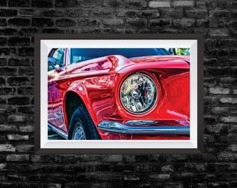 Mustang Ford Vintage Car Photograph Wall Art Print 13x19 inch