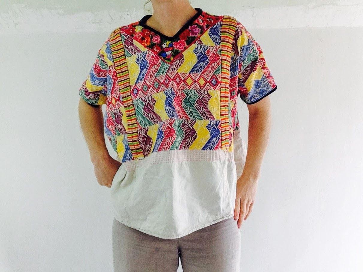 Vintage Hand Woven Embroidered Quetzaltenango Guatemalan # Muebles Wendy Manta