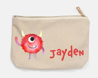 Cute Monster Personalised Pencil Case for Back To School
