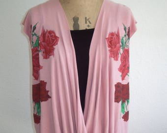 Rose print cross over t-shirt