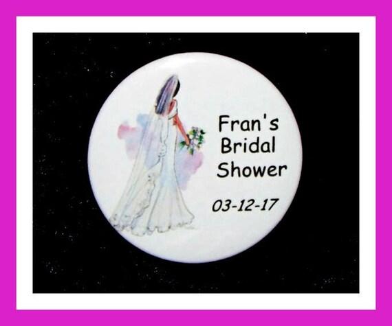 """Bridal Shower Favors,Wedding Favors,Bachelorette Favors,Engagement Favors,Party Favors,Button Pin  2.25""""  Set of 10"""