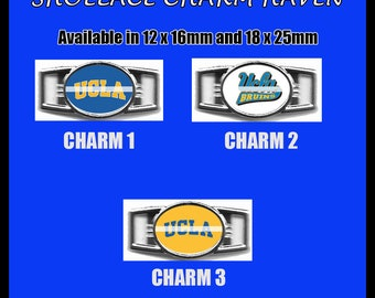 UCLA BRUINS Shoelace Charm  Paracord Bracelet Charm Oval Charm 12 x 16mm or 18 x 25mm Charms