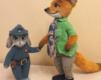 Cartoon characters to order.MadeJustForYou.ForExample!GadgetHack,Judy Hopps,Nick Wilde.Toy,Interior toy,Decoration,Art Doll,Teddy Bear