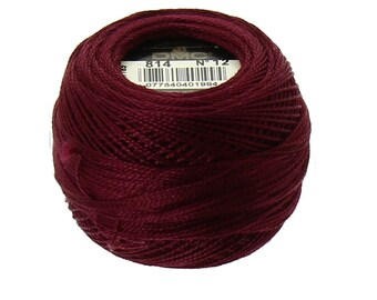 DMC 814 Perle Cotton Thread | Size 12 |  Dark Garnet