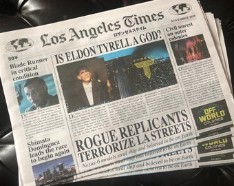 Blade Runner Accessory 8 Page Los Angeles Times Fan/Cosplay Newspaper