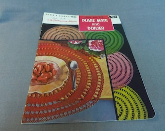 Vintage Crochet Patterns, Place Mats and Doilies, Coats and Clark Book 315. First Edition 1955