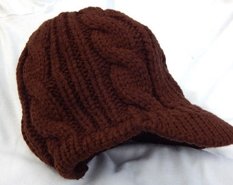 Womens Peaked Winter Hat