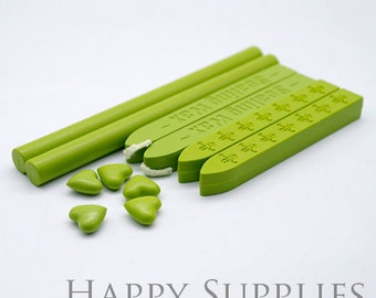 Yellow Green / Pastel Green / Grass Green / Apple Green Sealing Wax for Wax Seal Stamp Set