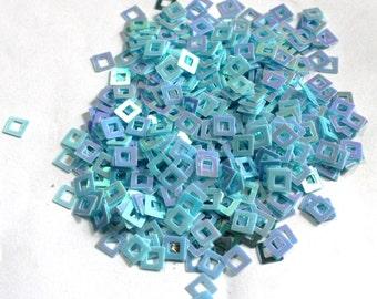 100 Blue color/Square Shape/Rainbow Texture/KBSS615