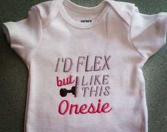 Beast Mode Baby Onesie for girls or boys! Inspired by Fitness friends!