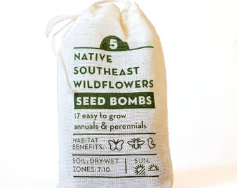 Seed Bombs Native Southeast Wildflower Gardening Gift