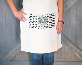 Polk-a-dot Apron, Kitchen Apron, Lifestyle gear, Chef's Apron, Practical Art