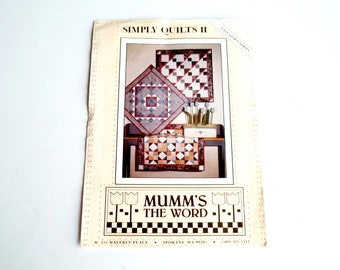Vintage Quilt Pattern   Simply Quilts ll    Easy Quilt Series  Mumm's The Word    Debbie Mumm