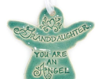 Christmas ornaments Christmas gifts for granddaughter Granddaughter gift religious Christmas ornaments granddaughter ornament angel ornament
