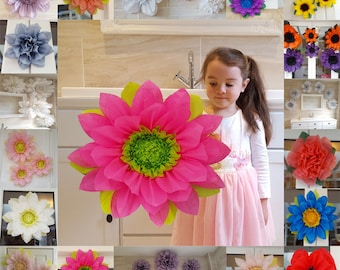Pom pom Tissue paper flower 45cm Tinker bell Decorations Party Centerpiece/hot pink/bright lime