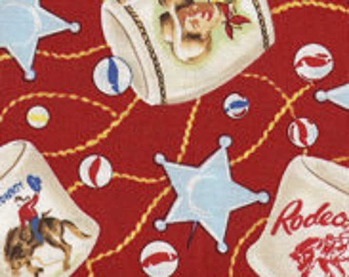Out Of Print Children's Western Fabric, Souvenir Trail Cotton by Michael Miller