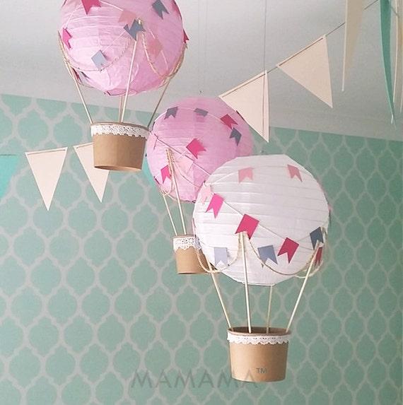 Lunatique hot air balloon d coration bricolage kit d cor de - Lampions kinderzimmer ...