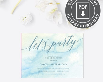 Going Away Party Invitation, Editable PDF, 014