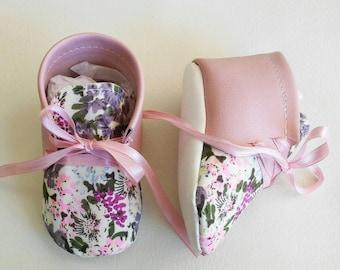 light pink floral shoes