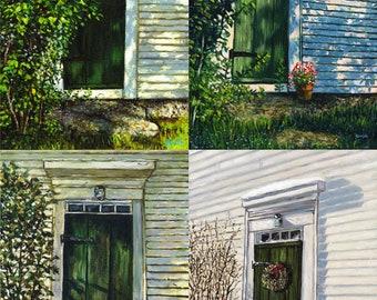 John Greenleaf Whittier Birthplace Four Signed Print Set by Mark Reusch