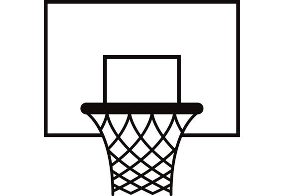 basketball hoop 1 backboard goal rim basket net sports game rh etsy com Transparent Basketball Goal Full Basketball Goal No Background