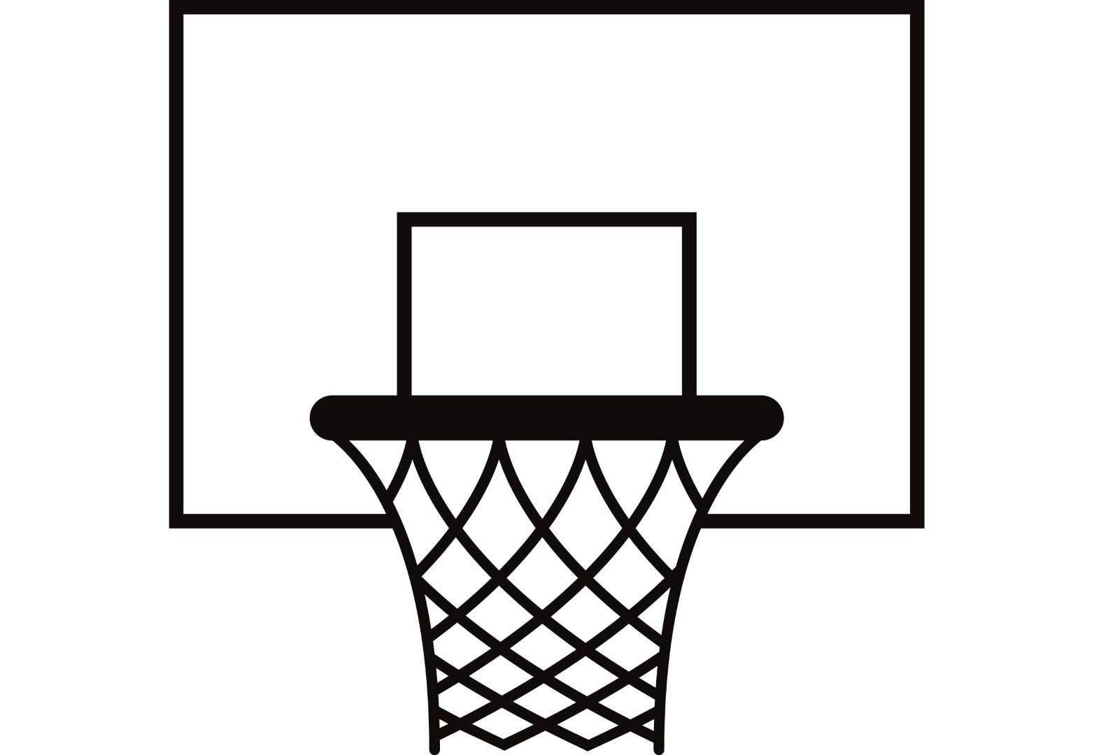 Basketball Hoop #1 Backboard Goal Rim Basket Net Sports