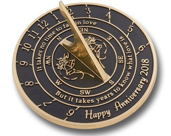 Looking For The Best Wedding Anniversary Gift? This Sundial Gift Is A Great Present For Him, Her Or A Couple To Celebrate Years Of Marriage