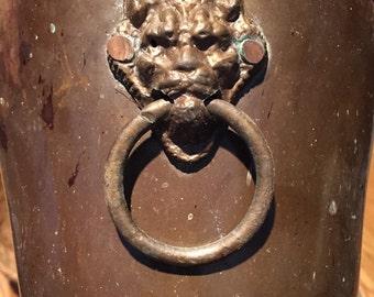 DEVILISHY DEVINE DEVIL Brass Container Devil Knockers Hannya Demon Vessel Brass Planter Devil Regency Vintage Halloween at Ageless Alchemy