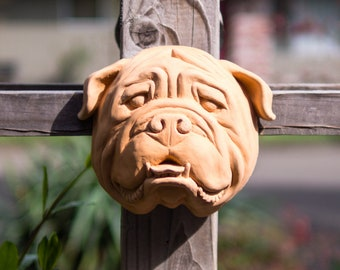 English Bulldog in Terracotta Cement