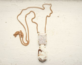 Russian Lace Agate and Lemon Chrysoprase Necklace