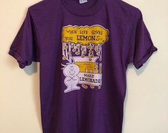 Vintage 80 When Life Gives You Lemons T-Shirt / UNWORN / Size Med-Large