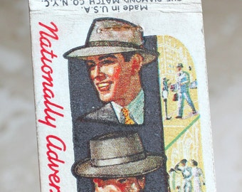 Portis hats matchbook covers - Portis hand fashioned hats  - matchbook cover - advertising collectible - paper ephemera - matchbook ad